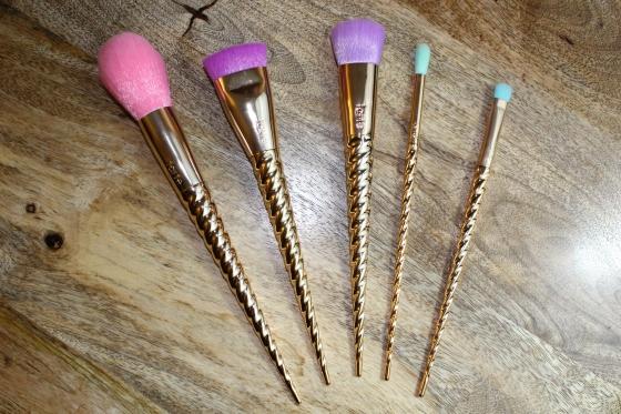 unicorn brushes tarte. pink powder brush unicorn brushes tarte